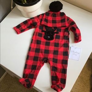 NEW baby plaid 2 piece set, size newborn